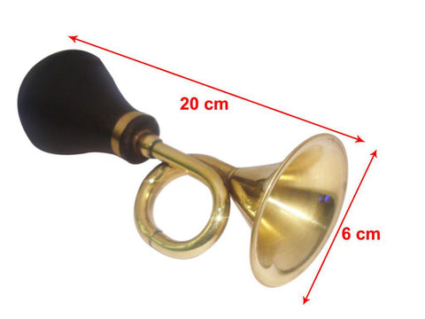 Retro Small Brass Bulb Horn For Cycle, Cars, Buses,Motorcycle, Trucks, Trikes