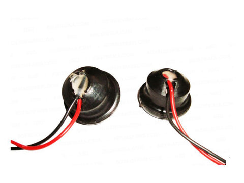 12 Volt Red Coloured LED Pilot Lights With Chromed Rims Fits Royal Enfield available at Online at Royal Spares