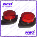 Brand New Universal  Red LED Reflectors Round Brake Light Fits Bike, Car, Truck available at Online at Royal Spares