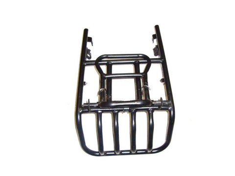 Black Powder Coated  Rear Luggage Carrier Fits Royal Enfield