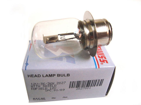 12v -36/36w Headlamp Bulb With Shield Fits Royal Enfield Vintage Bikes,Cars