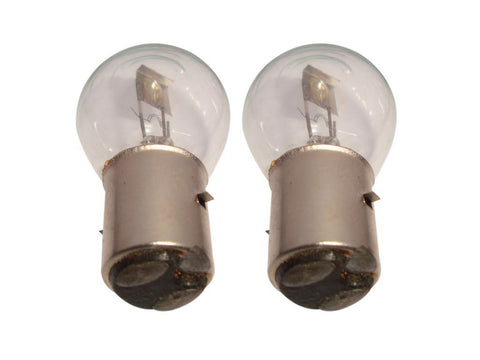 2 Headlamp Bulbs 6V-18/18W With Shield Fits Enfield/ Moped/ Scooter