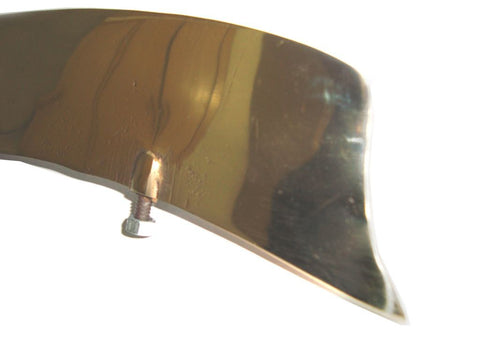 Customized Solid Brass Front Fender License Plate BSA, Norton, Triumph,Vincent