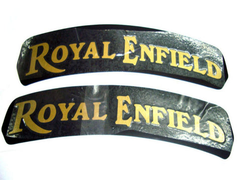 Brand New Pair of Front Number Plate Sticker For Royal Enfield