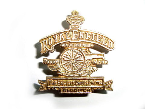 Cannon And Crown Badge Fits Royal Enfield available at Online at Royal Spares