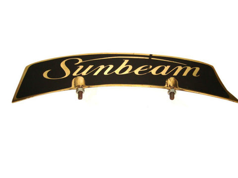 Brass Front Mudguard Number Plate Fits Old Sunbeam Motorcycle Models