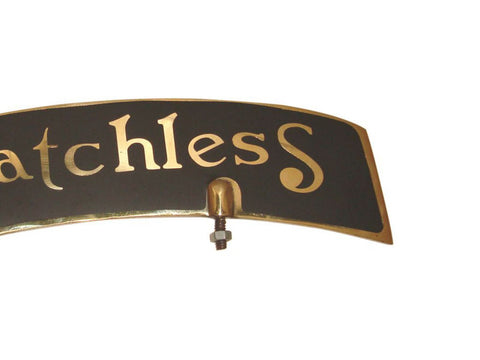 Brass Front Mudguard Number Plate  Fits Matchless Motorcycle