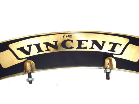 Brass Front Mudguard Number Plate Fits Early Vincent Motorcycle