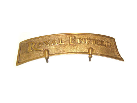Brass New Customized Royal Enfield Brass Front Mudguard Number Plate