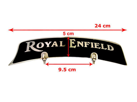 Customized Front Mudguard Number Plate Fits Royal Enfield available at Online at Royal Spares