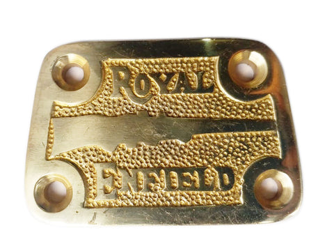 Brand New Royal Enfield Brass Tappet Cover With Gun Logo