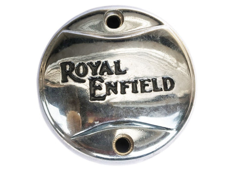 Brand New Chrome Points Cover With Re Logo Black Custom Made - Royal Enfield