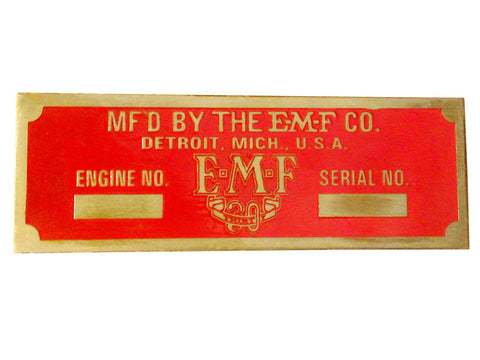 Brand New Custom Made Brass Red Embossed E-M-F Thirty Old Car (Auction Deal)