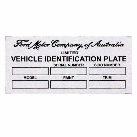 Aluminium Etching Ford Motor Blank Vintage Auto / Car Truck Owners Id Tag / Data Plate available at