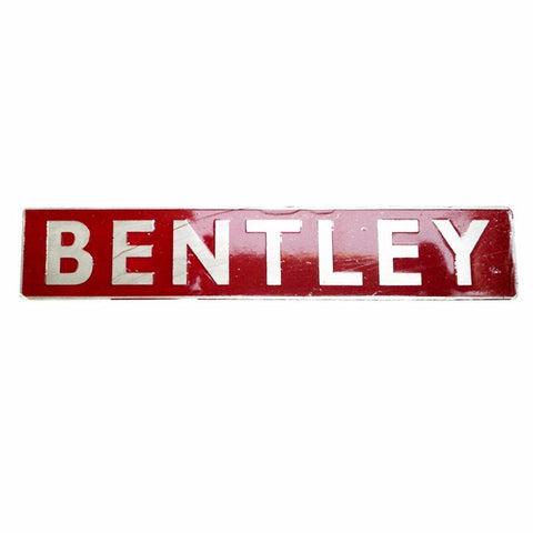 Vintage Bentley Engine Bay Badge- Silver And Red Alu available at