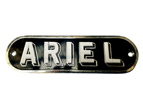 BRAND NEW BLACK CHROMED TANK BADGE FOR ARIEL MOTORCYCLE
