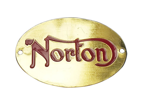 BRAND NEW QUALITY NORTON BADGE RED BRASS FINISH FITS NORTON MOTORCYCLE
