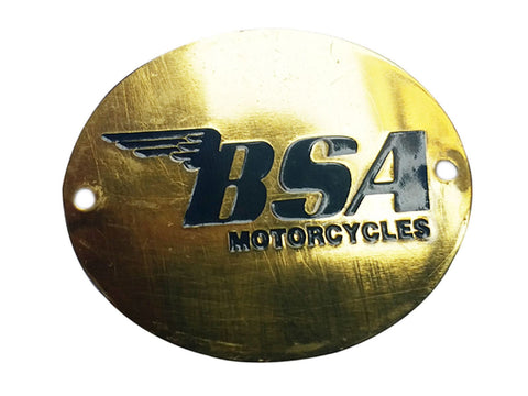 BEST QUALITY BSA BADGE BLUE BRASS FINISH FITS BSA MOTORCYCLE