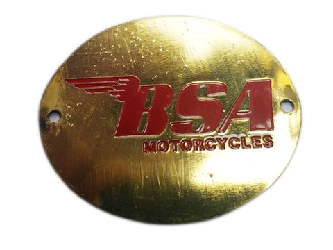 BRAND NEW BSA BADGE RED BRASS FINISH FITS BSA MOTORCYCLE