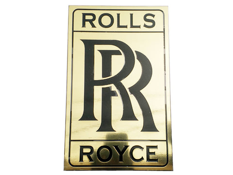 Brand New Vintage Brass Golden Rolls Royce Plate / Garage Wall Plaque, Signage