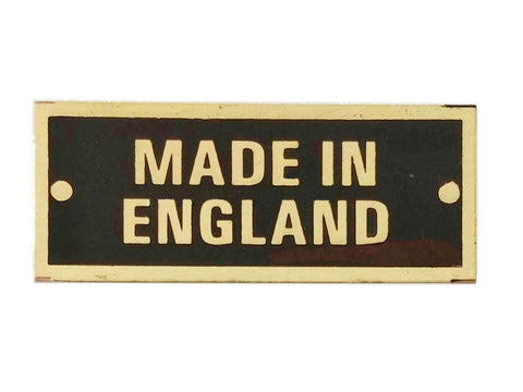MADE in ENGLAND Body Build Work Acid Etched Brass TAG Sign Plate