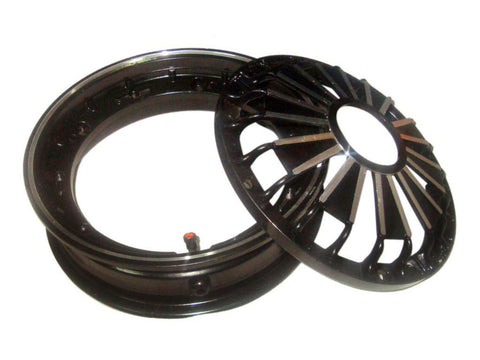 10 Inches Black Double Matt Tubeless Wheel Rim Fits Vespa / LML available at Online at Royal Spares