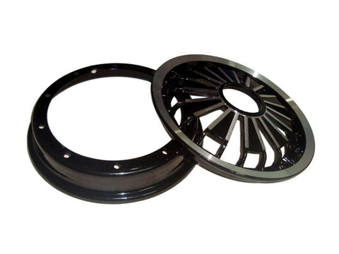 2x 10 Inch Aluminium Wheel Rim Black Fits Vespa Sprint/PX Models available at Online at Royal Spares