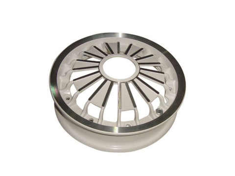 10 Inches White Aluminium Wheel Rim Fits Vespa Scooters available at Online at Royal Spares