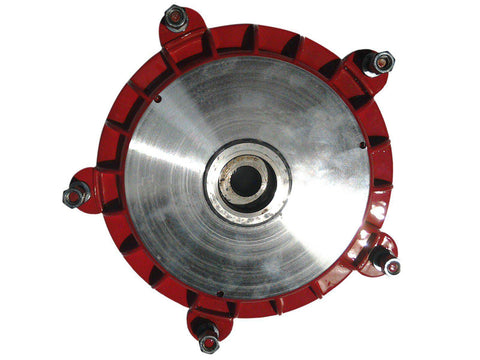 "Red & Silver 10"" Wheel Rear Brake Drum Hub Fits LMLVespa PX80-PX150X available at Online at Royal Spares"