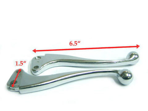 High Quality Alloy Lever Set Ball End Polished Fits Vespa Paiggio available at Royal Spares