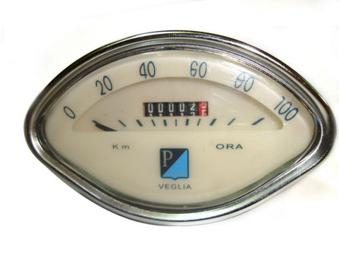 High Quality Speedometer 0-100 Kmph Fits Vespa Scooter VBA Models available at Royal Spares