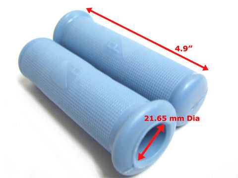 Brand New 22mm Rubber Hand Grip Covers - Blue Color Fits Vintage Vespa VBB Model available at Royal Spares