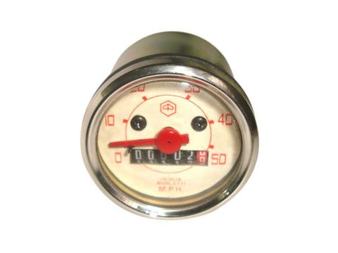 Brand New Speedometer 0-50 Mph Fits Vintage Vespa V90 Models available at Royal Spares