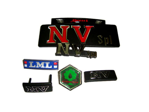 Badge And Resin Lable Kit (7 Pcs) Fits NV / LML Scooters