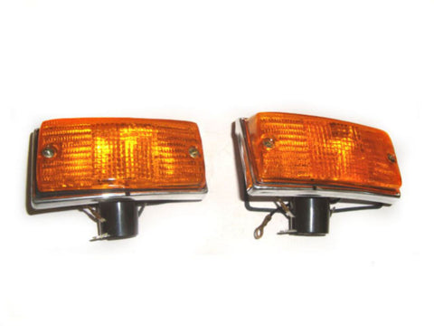 Front Indicators With Orange Lens Fits Vespa / LML NV Models
