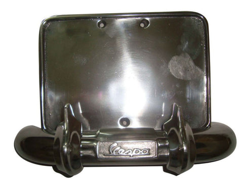 Brand New Number Plate Holder & Rear Bumper Fits Vespa