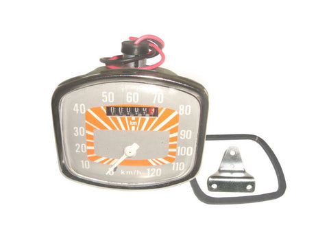 0-120 KM/HR Orange-Grey Face Speedometer  Fits Vespa Scooter GS 150 Model