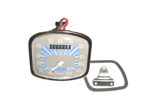0-120 KM/HR Speedometer Grey-Blue Fits Vintage Vespa GS 150 Models