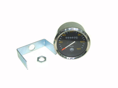 Vespa Piaggio Speedometer 0-120 KM/H Black Face For Vespa P80-150X/PX80-200E