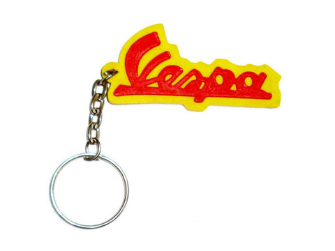 Brand New Key Chain With Vespa Logo Red & Yellow available at Online at Royal Spares