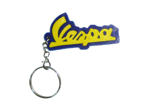 Brand New Key Chain With Vespa Logo Blue & Yellow -Vespa Scooter available at Online at Royal Spares