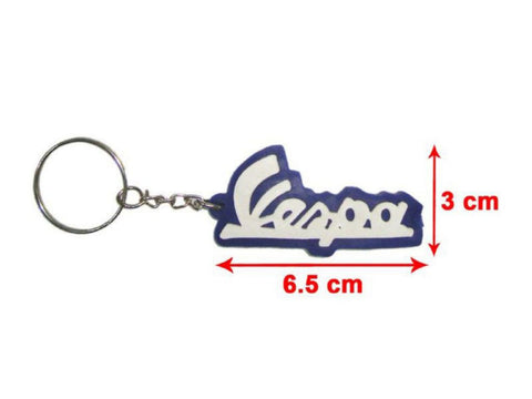 Brand New Key Chain With Vespa Logo Blue & White -Vespa Scooter