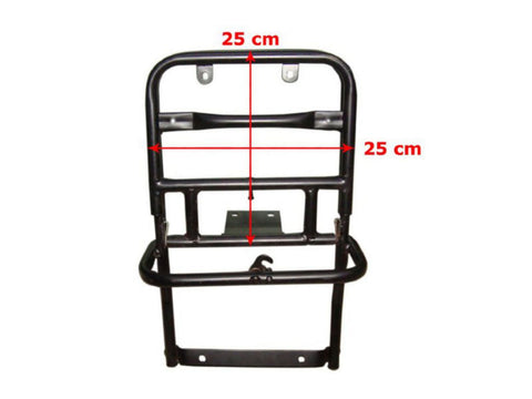 Vespa Black Fold Down Rear Carrier - PX LML Star Deluxe 150 Models available at Online at Royal Spares