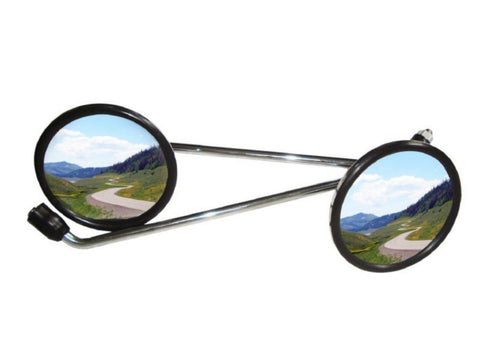 Pair of Chromed Mirrors 4.5 - Vespa LML Star Stella PX 125 150 200 Scooter available at Online at Royal Spares
