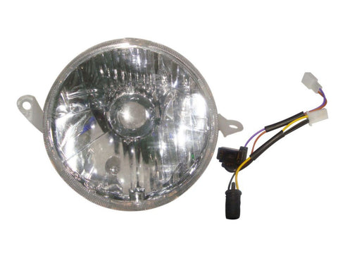 Headlight Head Lamp Clear Lens With Holder -Vintage Vespa PX 125/150/200 Disc available at Online at Royal Spares