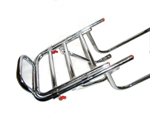 New Adjustable Chromed Rear Luggage Carrier Fits Royal Enfield available at Online at Royal Spares