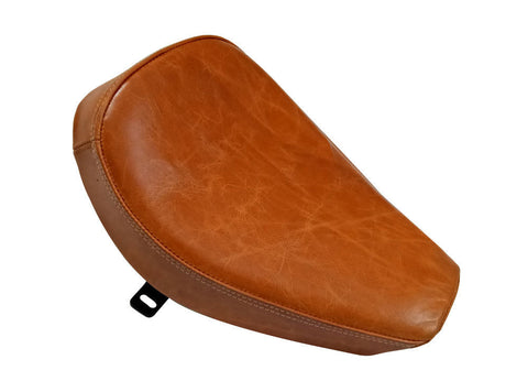 Royal Enfield Front Solo Seat Tan Color Leather Bullet Norton BSA Trump & Other