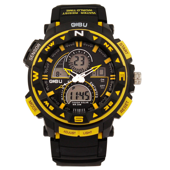GOBU Yellow Sports Watch