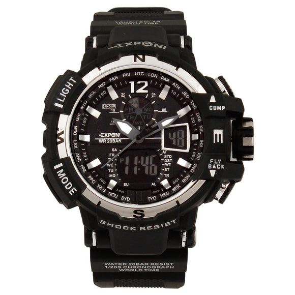 Exponi Black Sports Watch