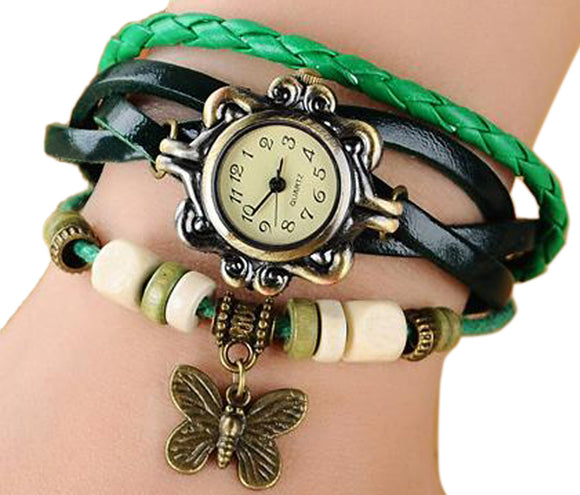 Green Vintage Watch for Women